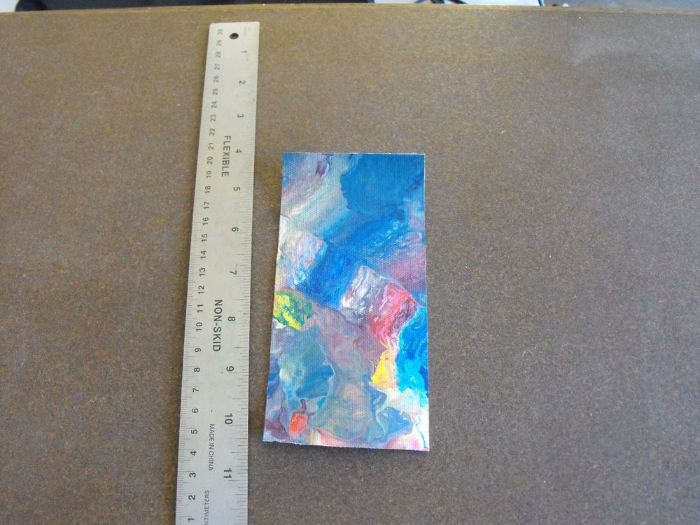 Original Signed by US Artist Abstract Expressionism Watercolor - D7 #Expressionism