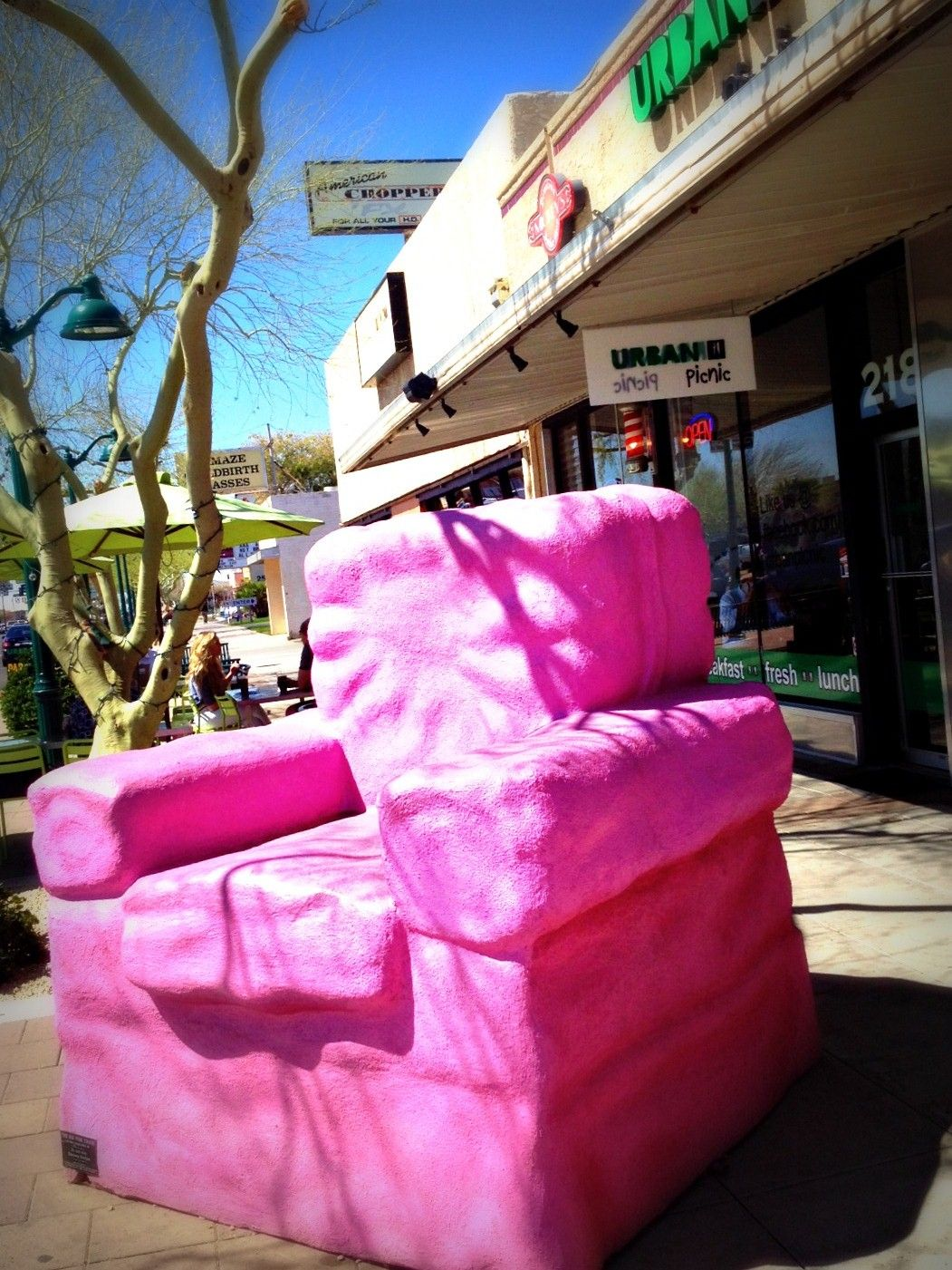 Ordinaire The BIG Pink Chair In Downtown Mesa Arizona. Discover Over 35 Art  Sculptures In DT Mesa!