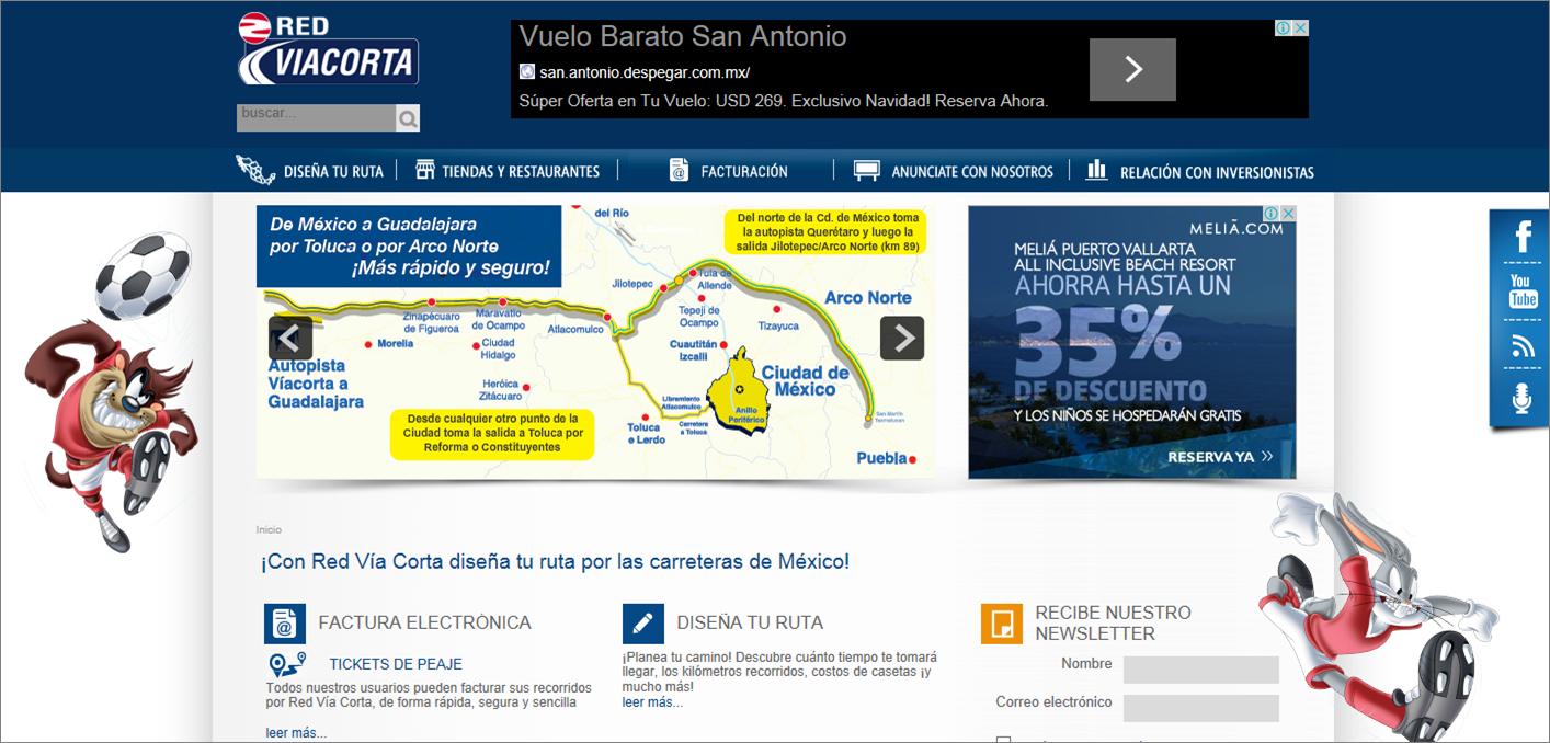 Tenemos a Red Víacorta para que disfrutes estas vacaciones.  Entra y diseña tu ruta por las carreteras de México. www.redviacorta.mx