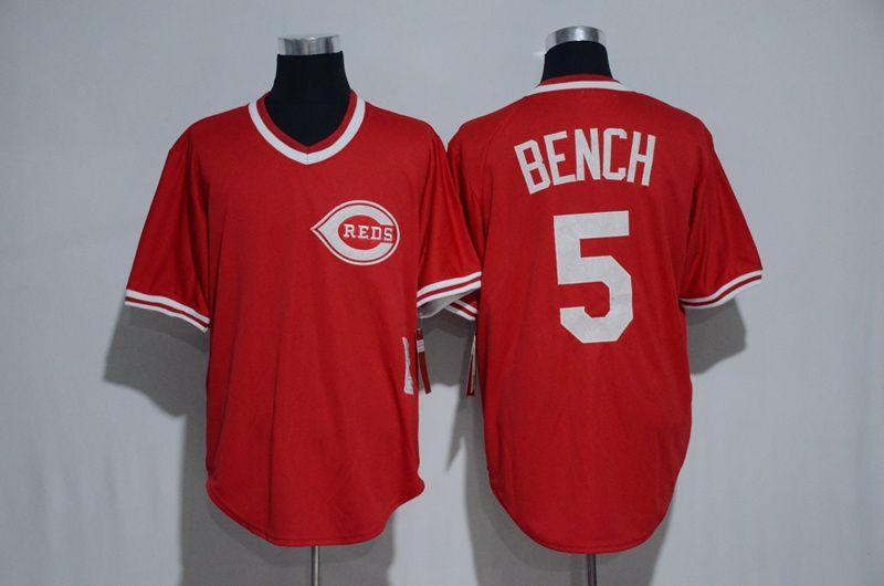 buy popular a3b6d 5a679 Men's Cincinnati Reds #5 Johnny Bench Red Pullover 2016 ...