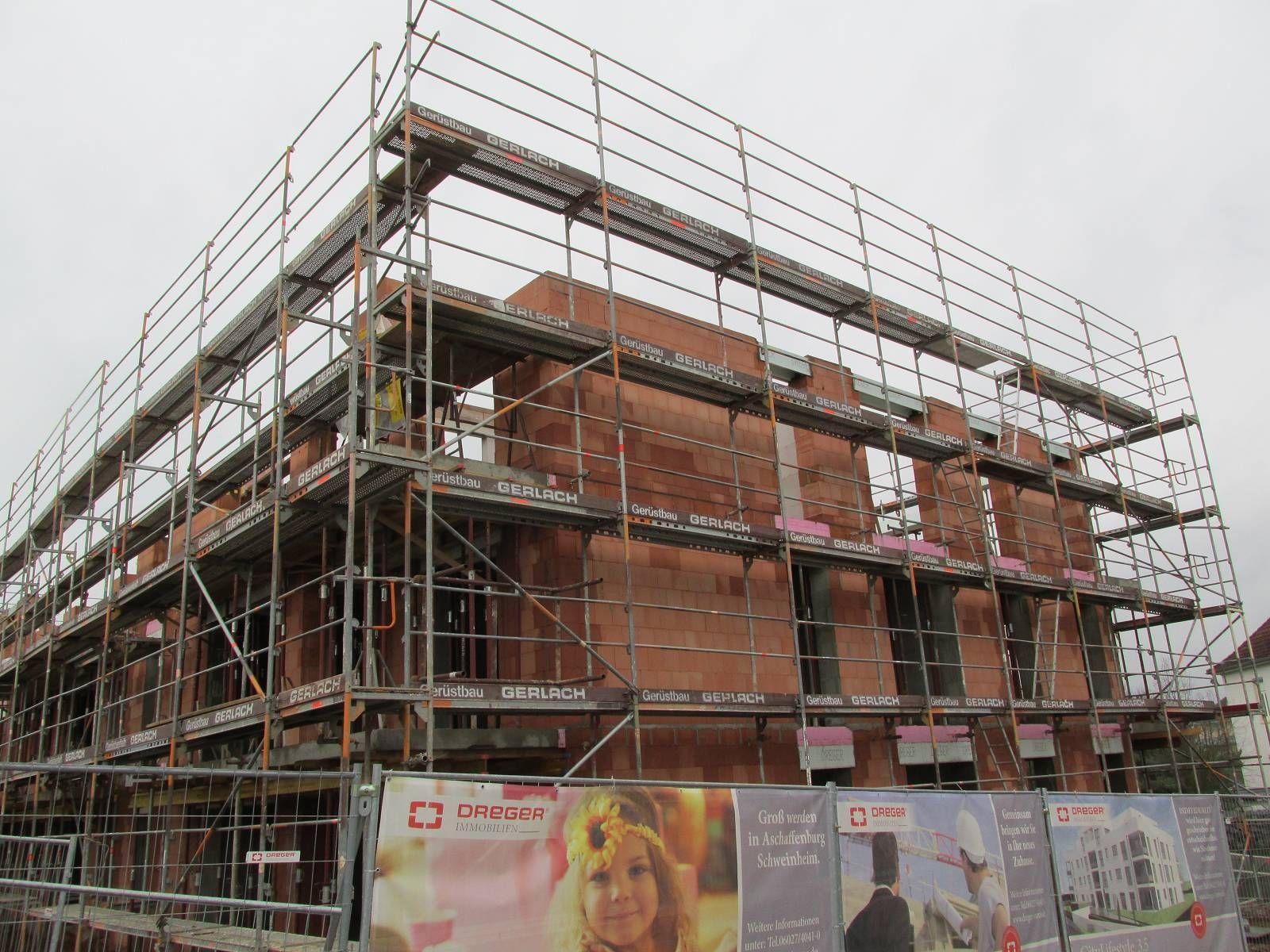 Bautenstand 28.01.2015 Aschaffenburg, Baubeginn, Bau