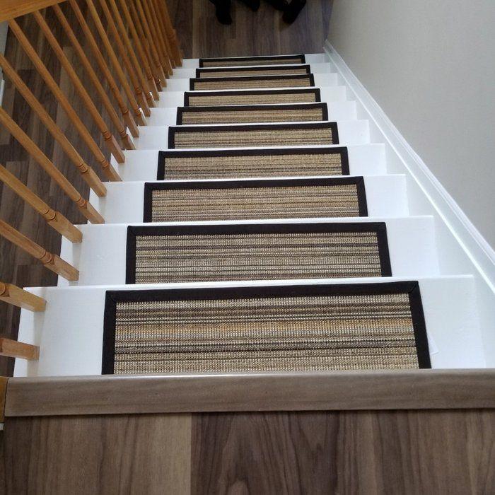 Best Claraville Brown Beige Stair Tread Stair Runner Carpet 400 x 300
