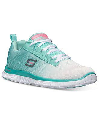 newest 7483f dd2e1 Skechers Flex Appeal Memory Foam Running Sneakers mesh white mint (49.98)  NA. DeporteZapatosZapatillas De Deporte Para CorrerZapatillas ...