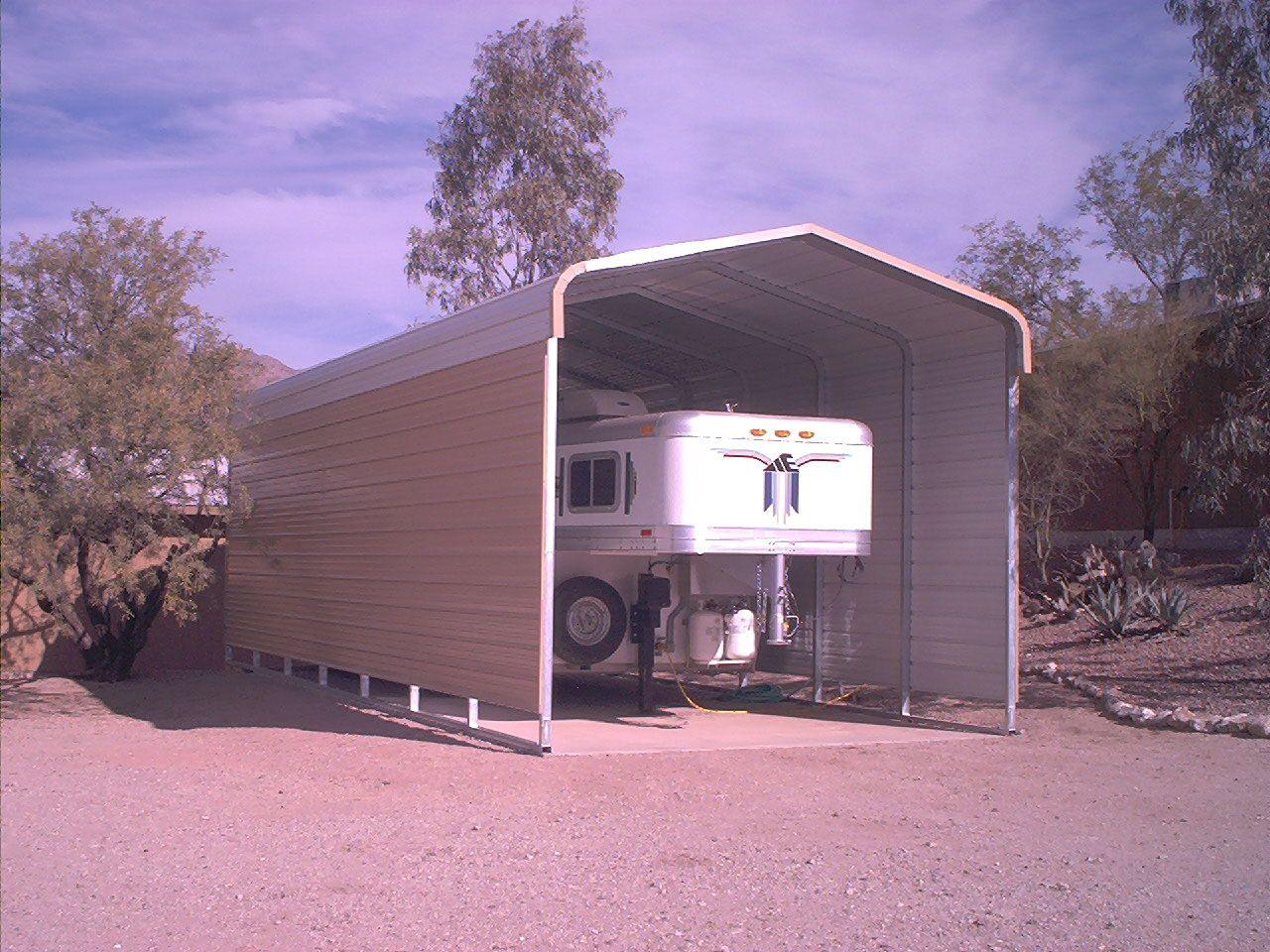 3 Sided Steel Carport for RV by Absolute Steel Steel
