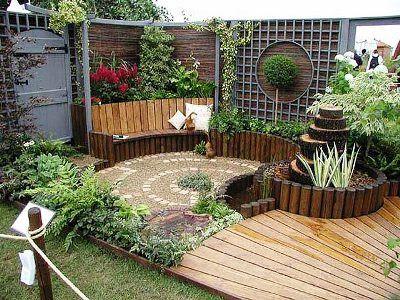 ideas decoracion de jardines - patio terraza estilo japones   Jardin ...