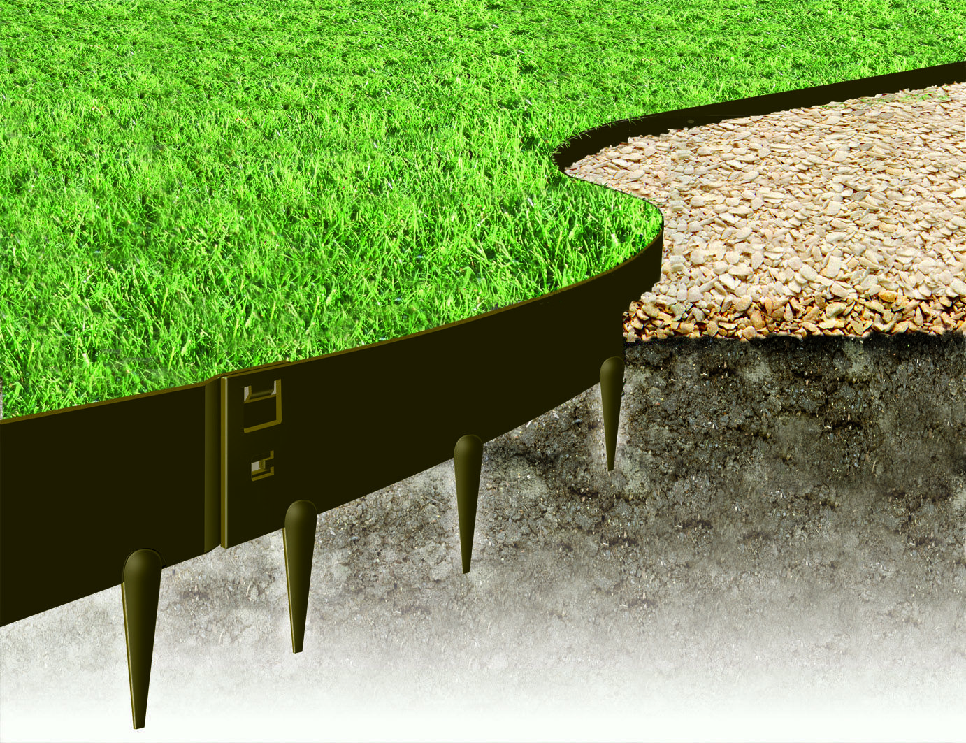 The Everedge Classic Lawn Edging Range Are Anchored Into 400 x 300