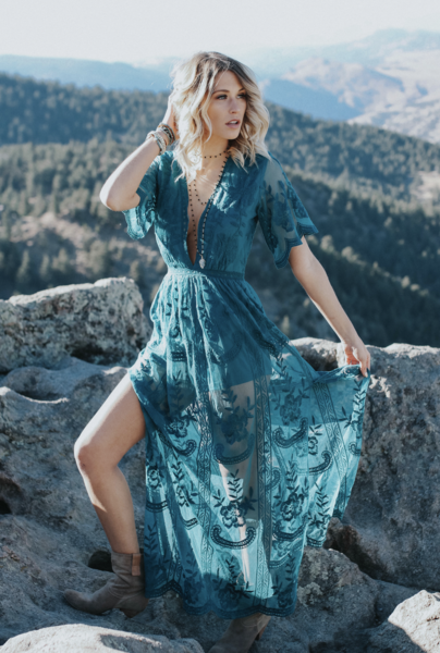 c38f33cb7fb8 Thora Maxi Romper - Teal - ITEM OF THE DAY Lace Maxi Romper