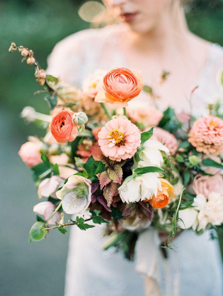 Wunderschoner Brautstrauss Apricot Ausgefallen Hochzeit