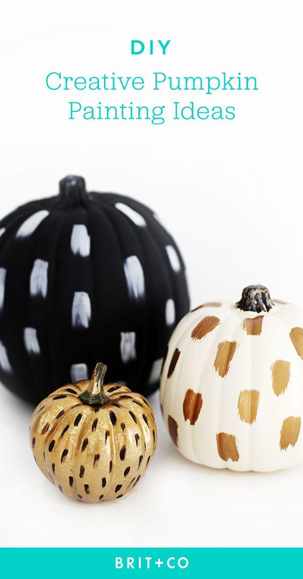 30 creative pumpkin painting ideas for a no mess no carve halloween rh pinterest com fun creative pumpkin painting ideas