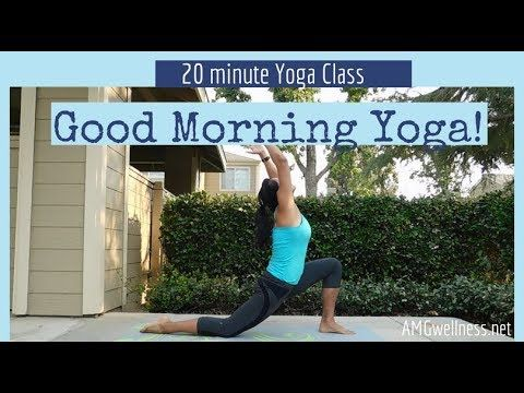 good morning yoga 20 minute class this is a full but