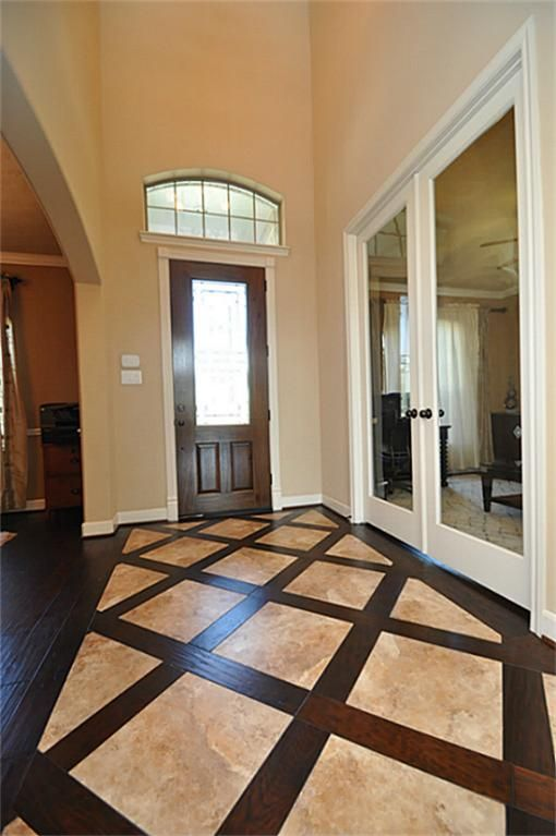 Tile Floor Designs For Living Rooms: Kitchen Floor Wood And Stone ---love This Idea To