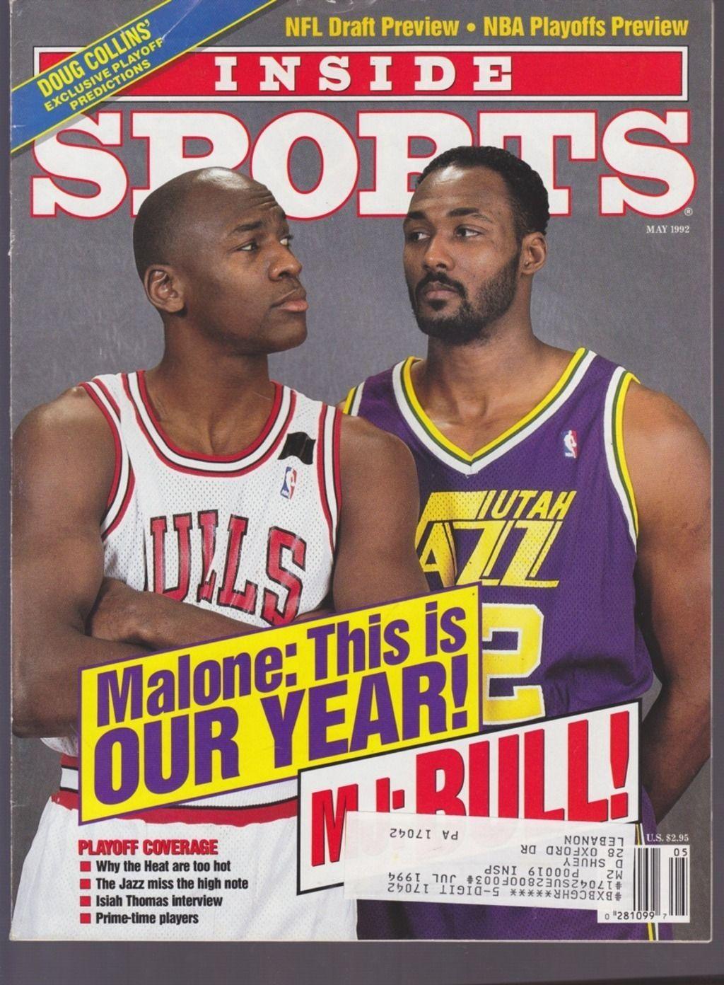 VINTAGE INSIDE SPORTS MAGAZINE NBA BASKETBALL MICHAEL JORDAN KARL ...