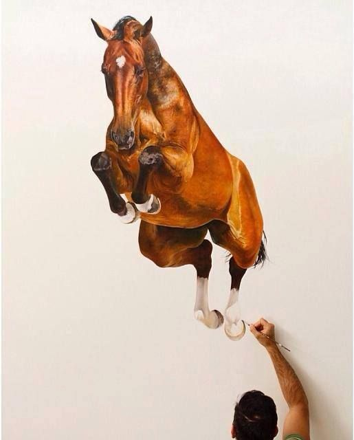 3d Wall Painting Wall Painting Streetart Equine Art