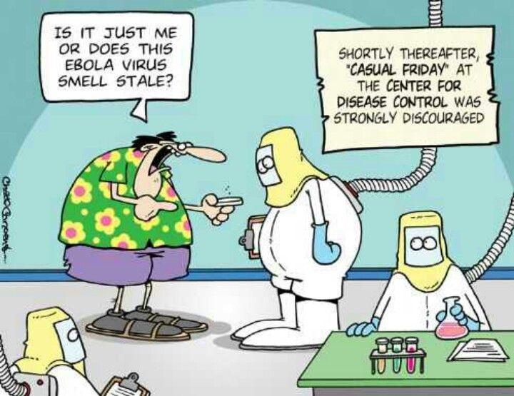 Casual Friday at the CDC? Not a good idea. | Funny cartoons, Comics, Funny  comics