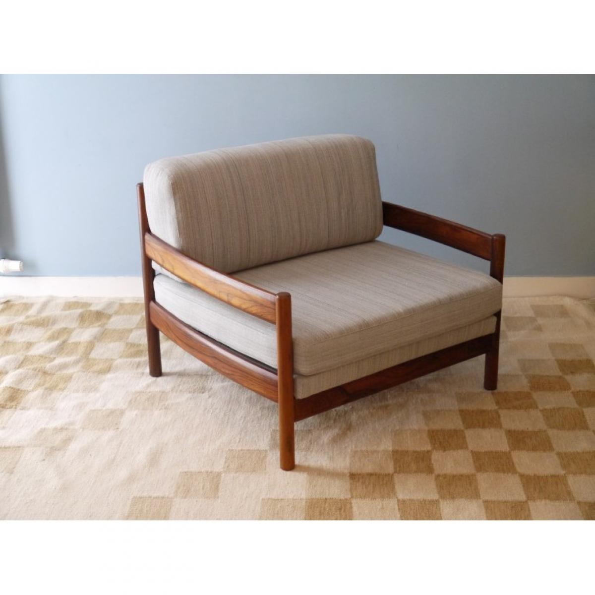 Fauteuil design vintage scandinave en palissandre de Rio,   Home ...