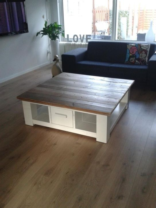 Salontafel Met Lade Wit.Salontafel Wit Onderstel Met Lade Things To Make Pinterest