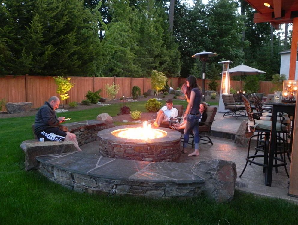14 Outstanding Patio Designs With Fire Pit And Hot Tub Diy Backyard Patio Outdoor Patio Diy Diy Backyard Landscaping