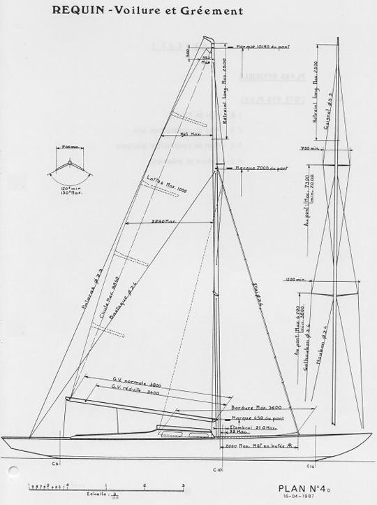 Requin. Plan de gréement | sail away | Pinterest | Boating, Sail boats and Classic sailing