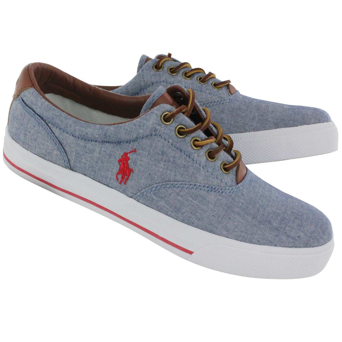 COMFORTABLE HANFORD BLUE CHAMBRAY LEATHER ITEM 75494