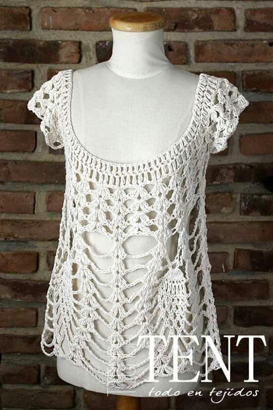 Pin de mariela santana en Blusas tejidas   Pinterest   Croché ...