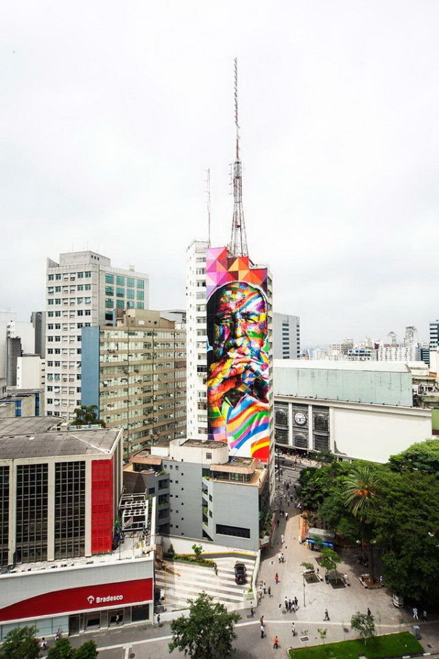 Colorful Street Art by Eduardo Kobra