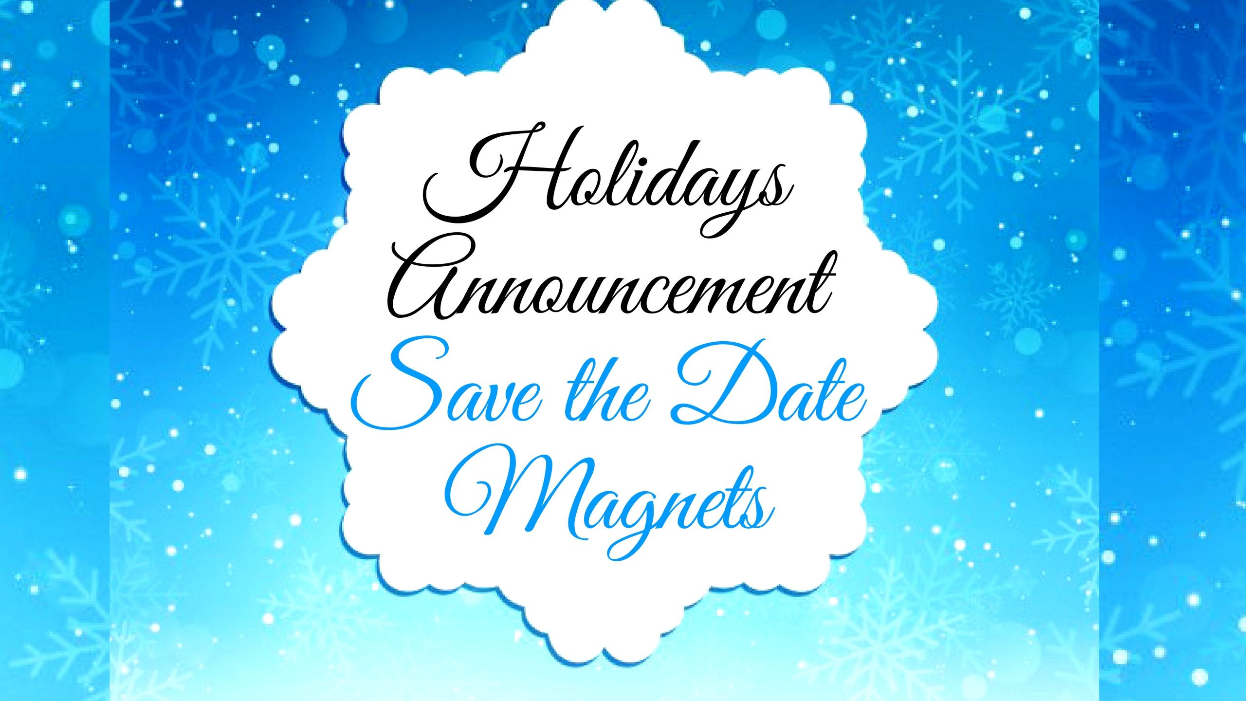 Choose from our range of full color holiday announcement save the ...