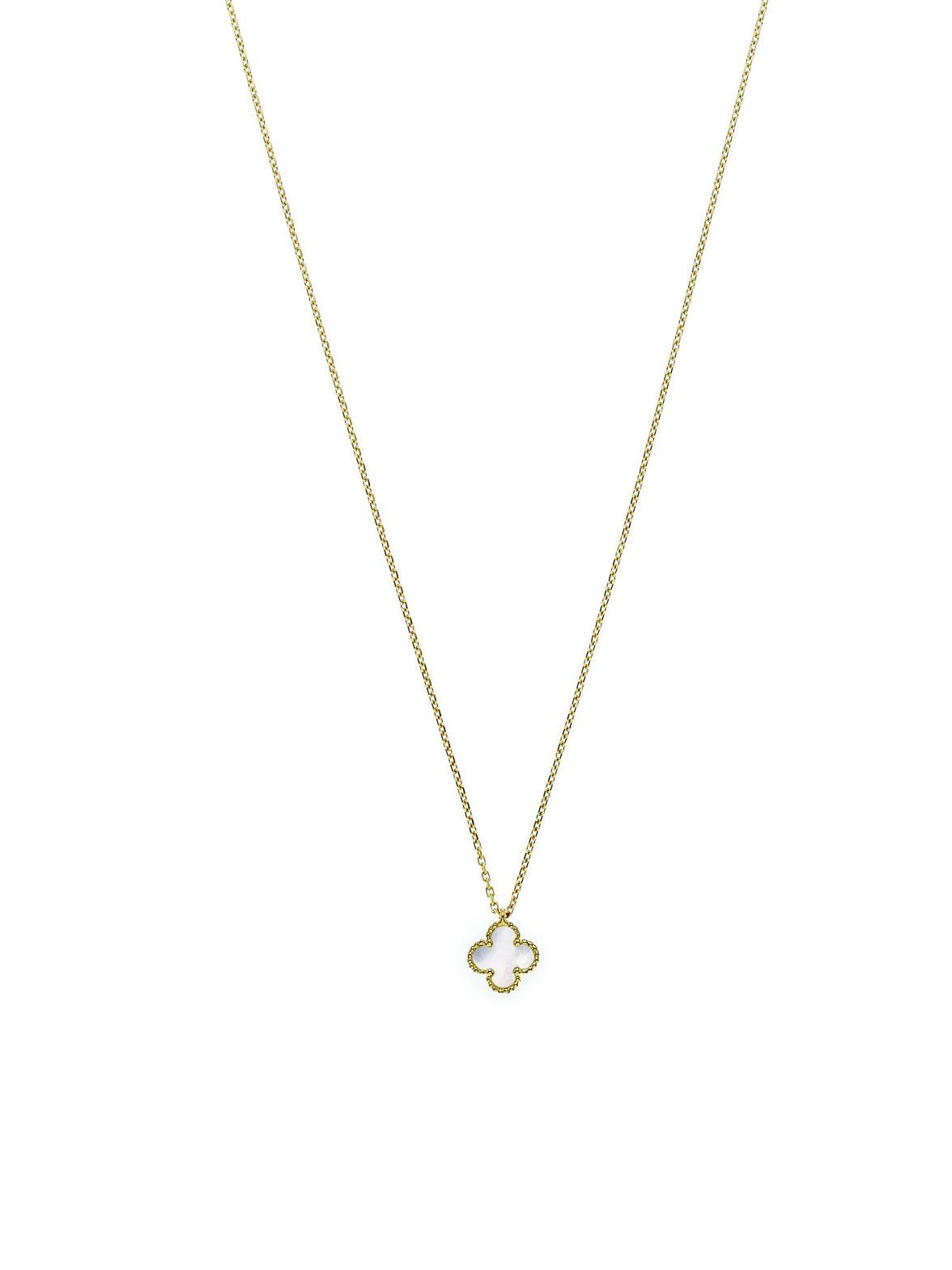 Van Cleef & Arpels 18k Yellow Gold Sweet Alhambra Pendant Necklace. 18k  Yellow Gold with