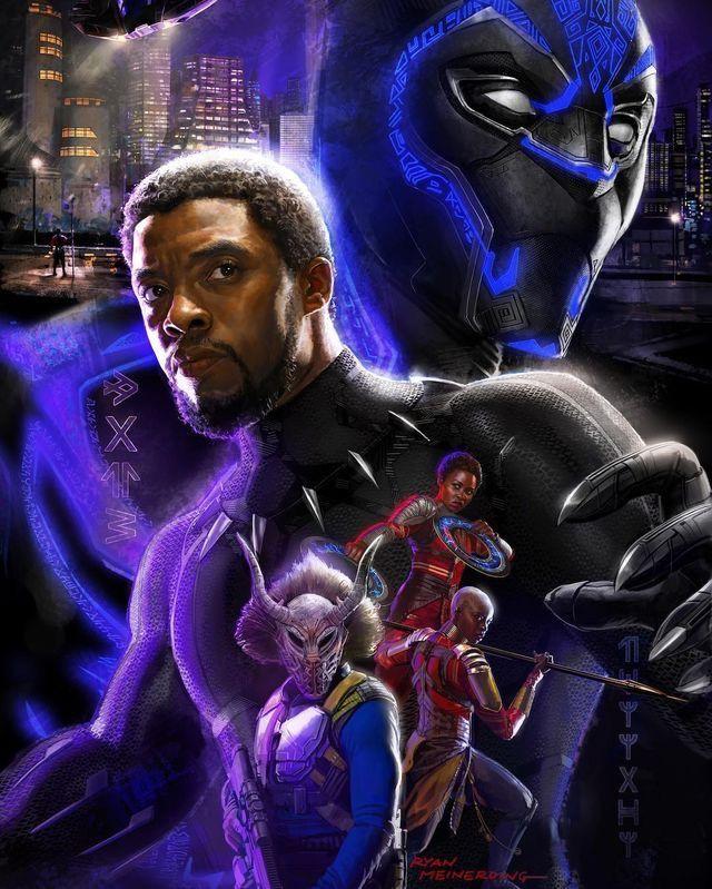 Arte Promocional de Pantera Negra (Art Pôster na SDCC17).