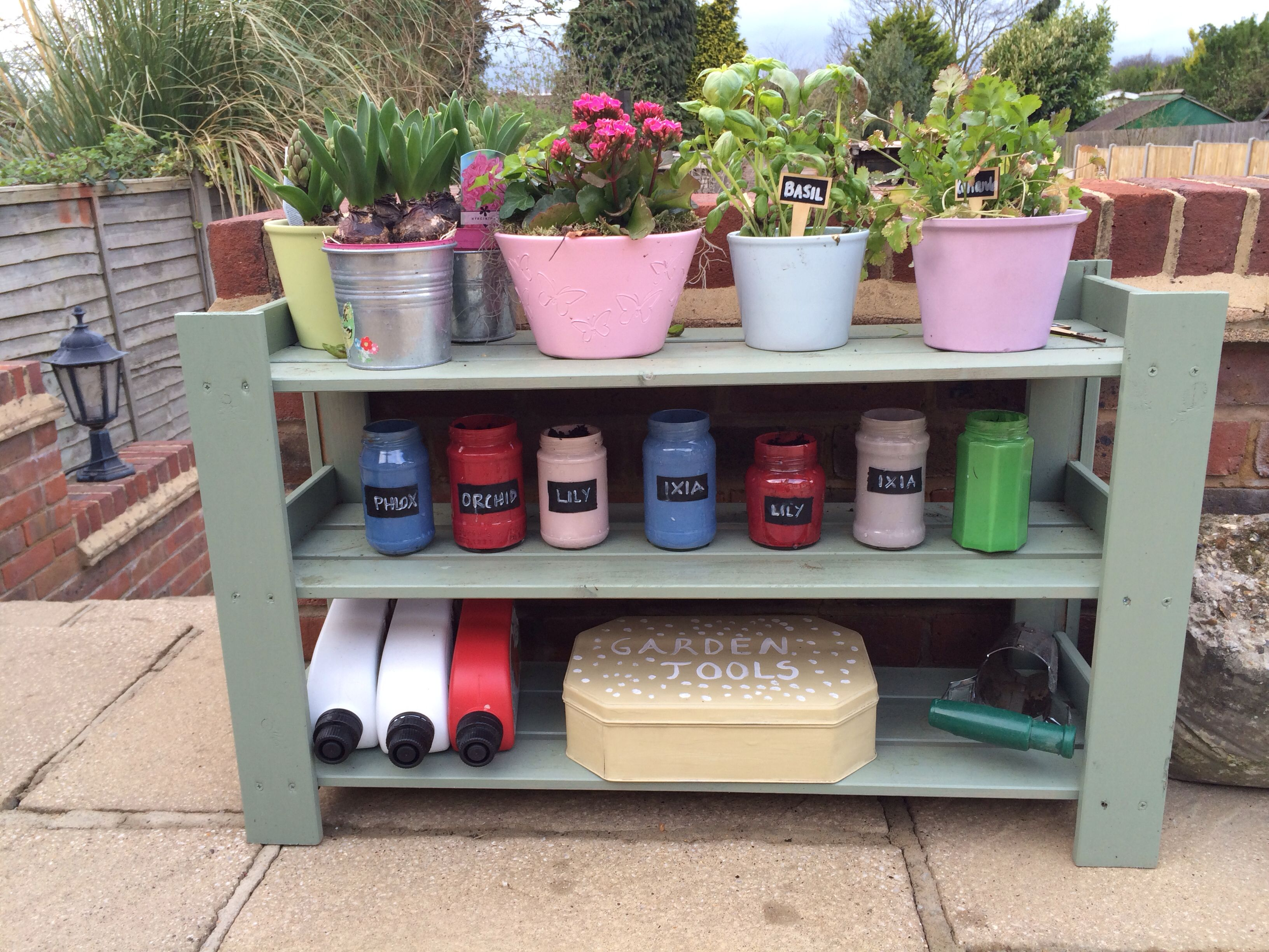 Yard Ideas · Ikea Shoe Rack Transformed For Outside. Painted It With  Cuprinol Shades In Willow.