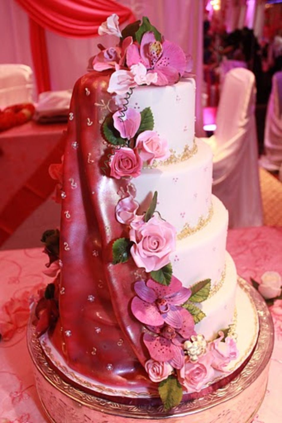 indian wedding cakes | ... | Wedding Towel Cake Favors | Classy ...