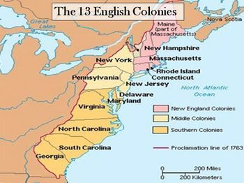 In the 1600s and 1700s the English established 13 colonies  The