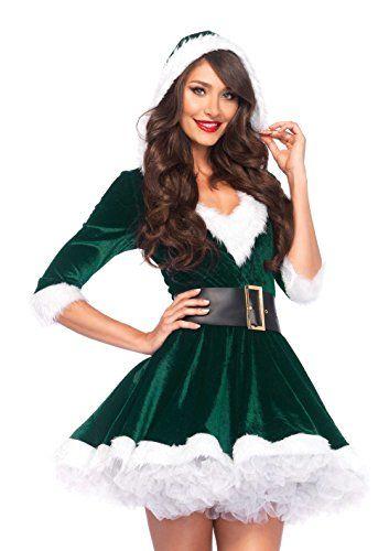 5864e23faad9 Leg Avenue Women's 2 Piece Mrs. Claus Costume   Clothing   Christmas ...