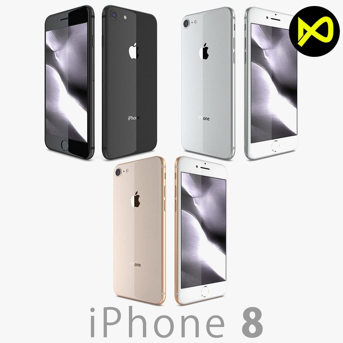 Apple Iphone 8 All Colors 3d Model Ad Iphone Apple Model Colors Apple Iphone Iphone Apple Model