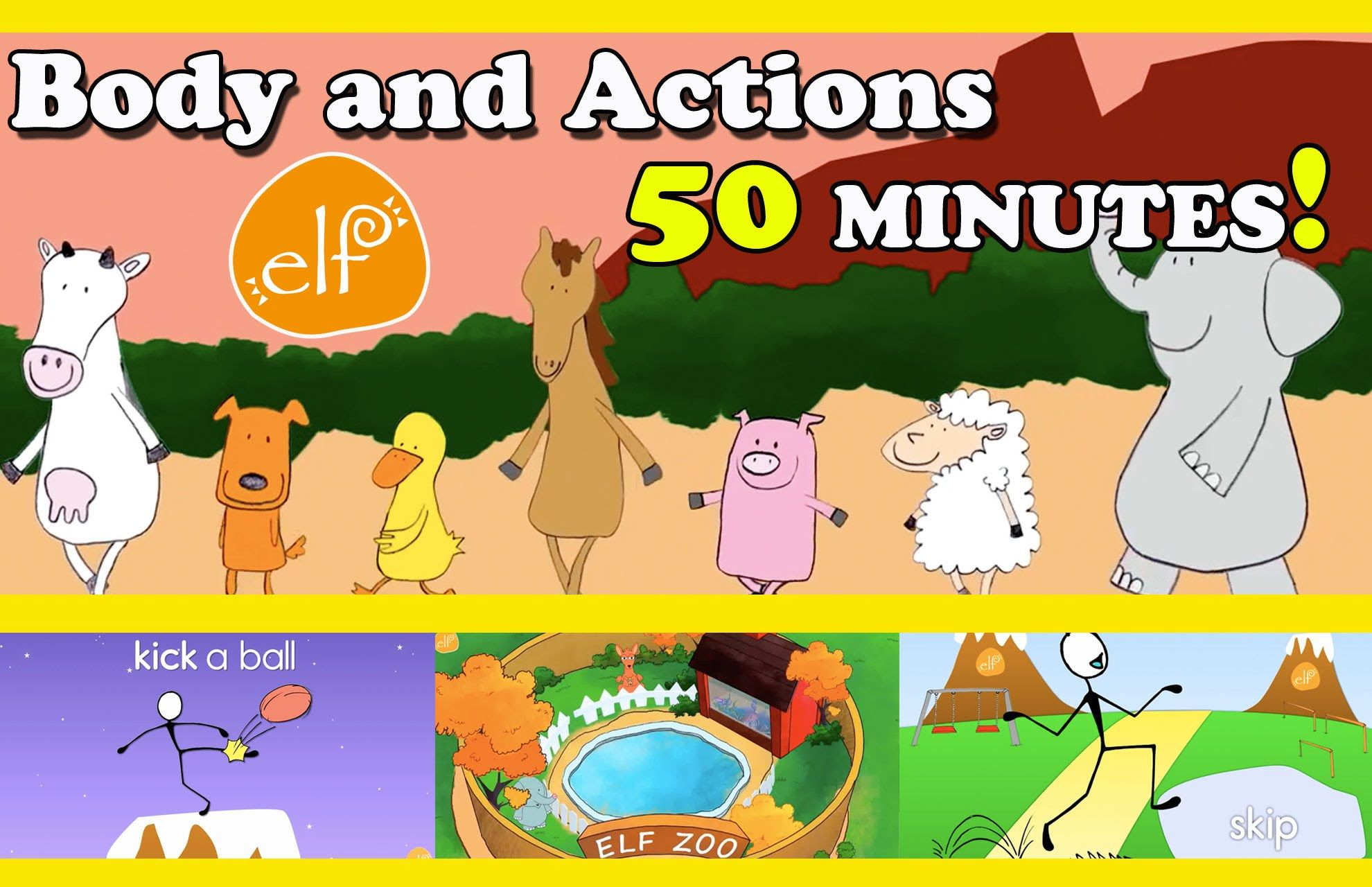 Body, Movement, Action Songs Collection for Toddlers and