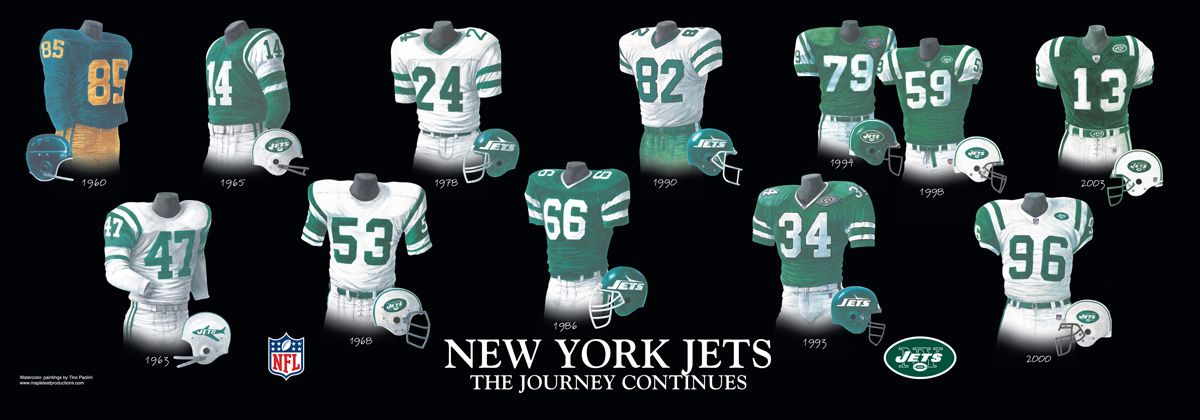 New York Jets Uniform And Team History American Football