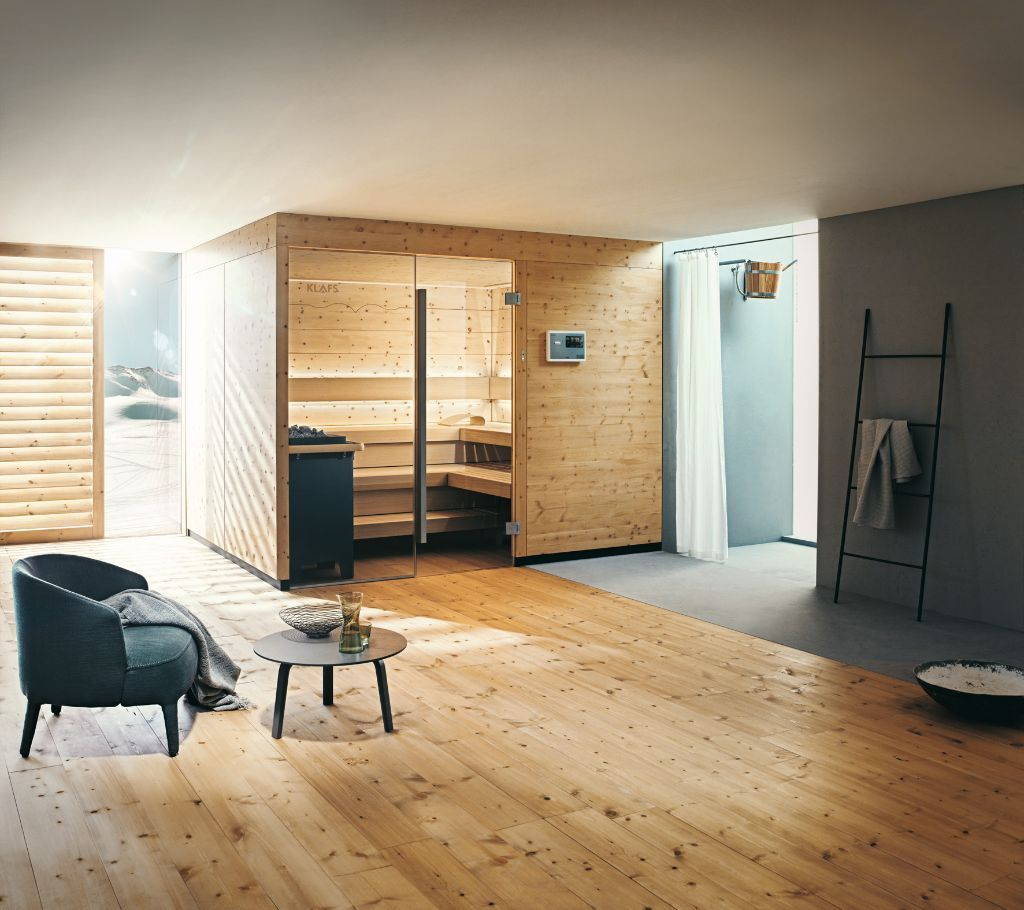 sauna chalet aus zirbenholz badezimmer pinterest. Black Bedroom Furniture Sets. Home Design Ideas