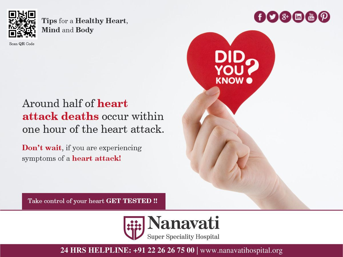 Don't wait, if you are experiencing symptoms of a heart ...