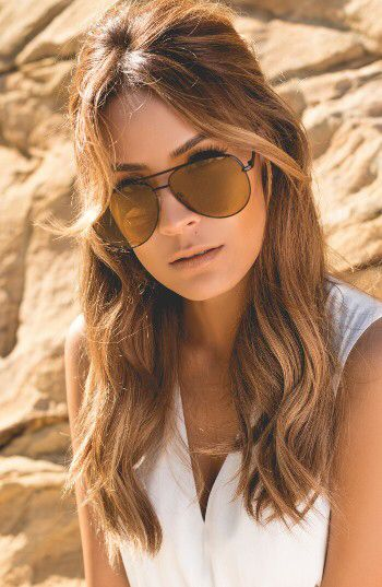 110262282c Check out the Quay Australia x Desi Perkins Sahara 60mm Aviator Sunglasses  from Nordstrom  http