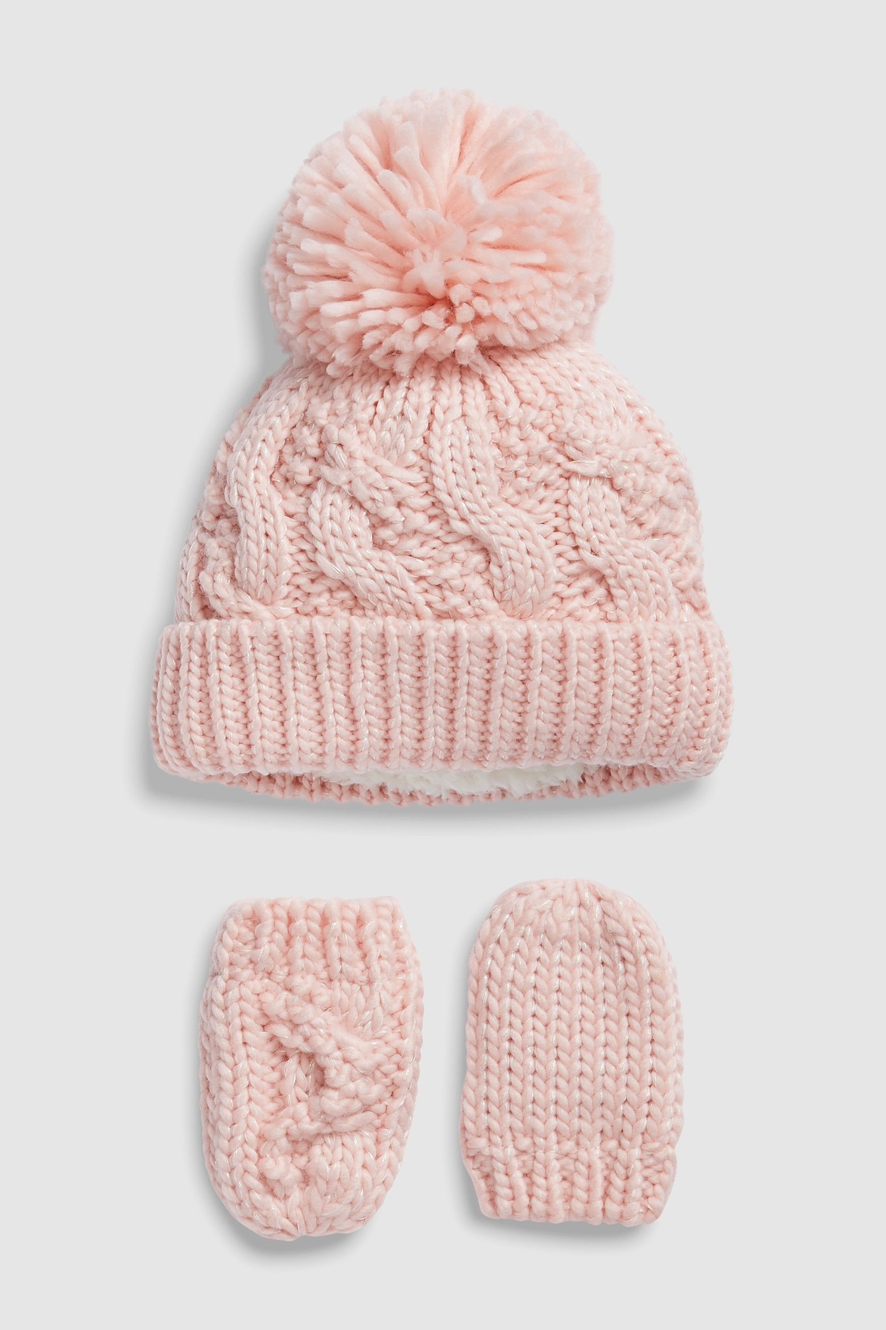 9b0c8daf8f1 Girls Next Light Pink Hat And Gloves Two Piece Set (Younger) - Pink ...