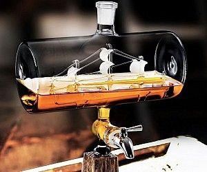 Ship In A Bottle Whiskey Dispenser