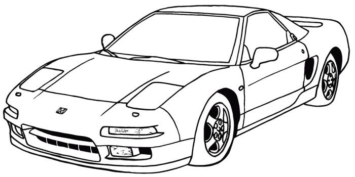 Acura Nsx Honda Coloring Page Easy Coloring Pages Coloring Pages