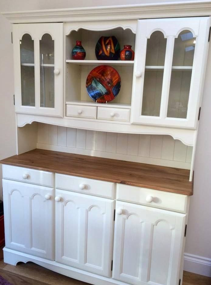Refurbished MFI pine dresser unit Painted in