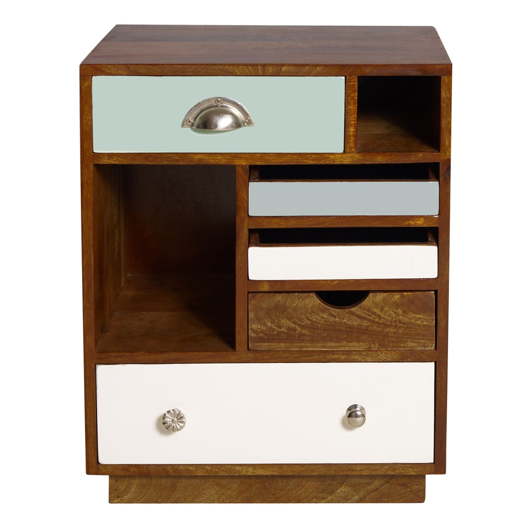 Unique Round Nightstands Furniture Percy Flipped Tray Figure