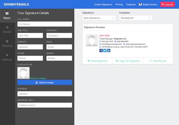 إذا كنت شخص تستخدم البريد الإلكتروني الخاص بك في الأعمال التجارية أو الأعمال الخاصة فلا بد Email Signature Generator Html Email Signature Signature Generator
