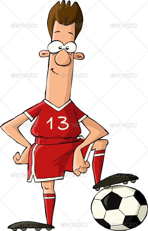 Soccer Icons Set Football Cartoon Style Cartoon Styles Icon Set Cartoon Illustration