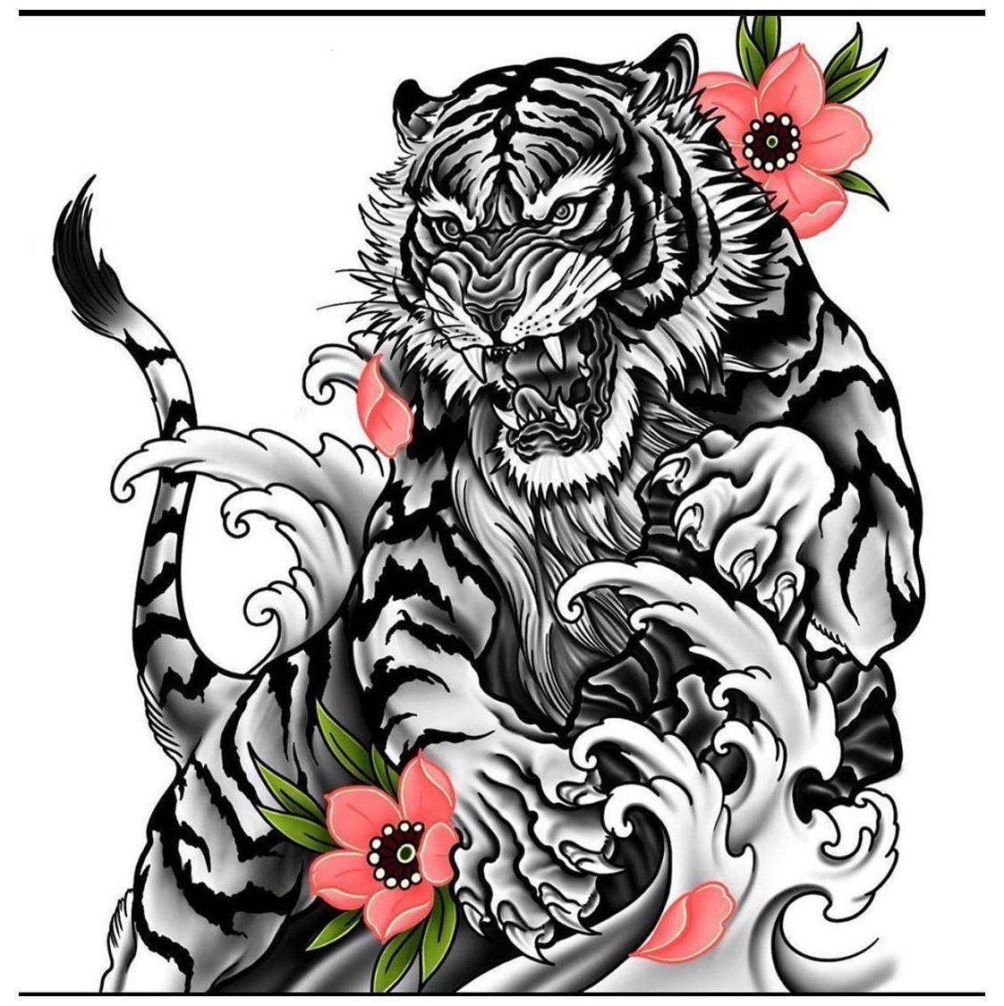 tiger tattoo stencil