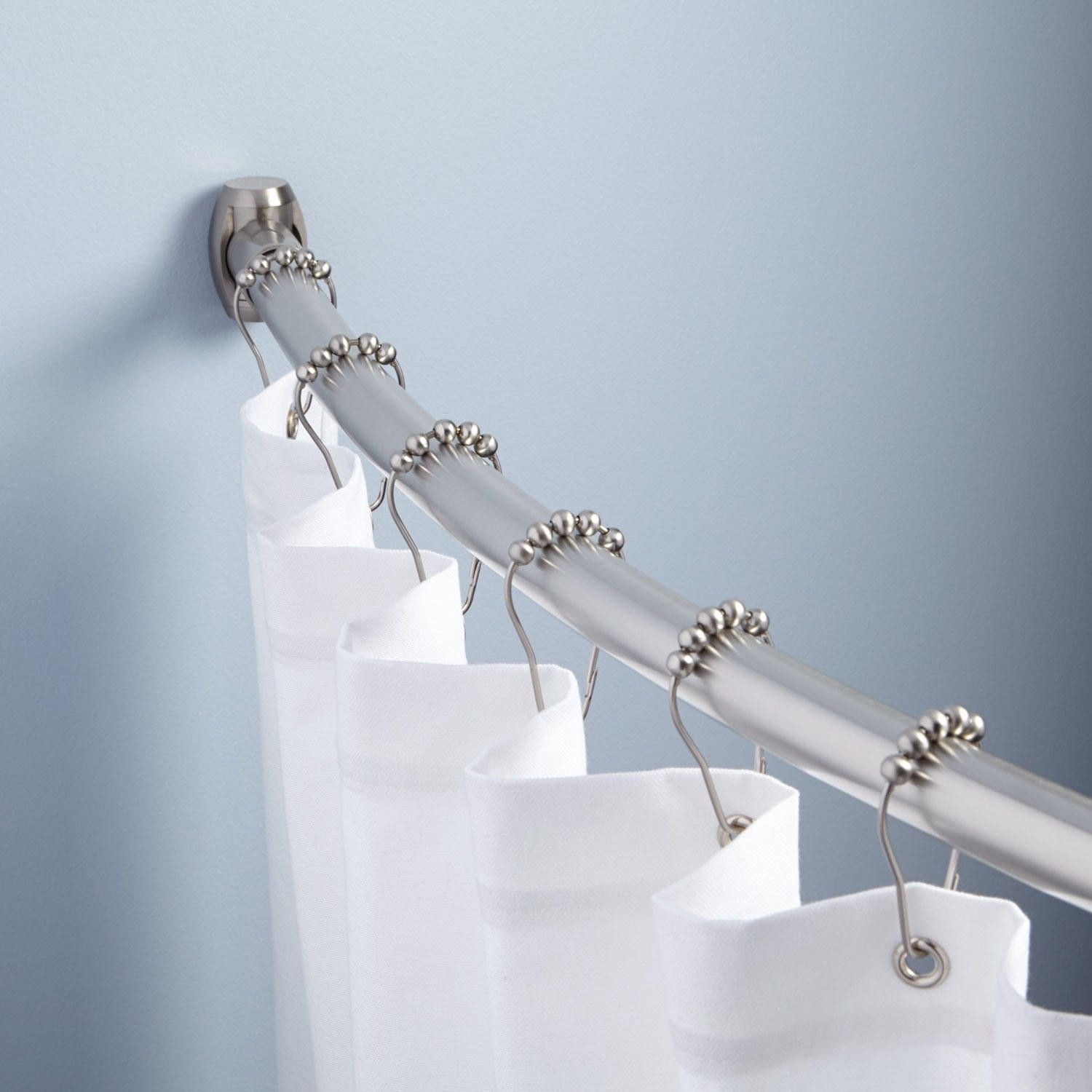 Curved Shower Curtain Rod | Shower curtain rods, Bath and Small ...