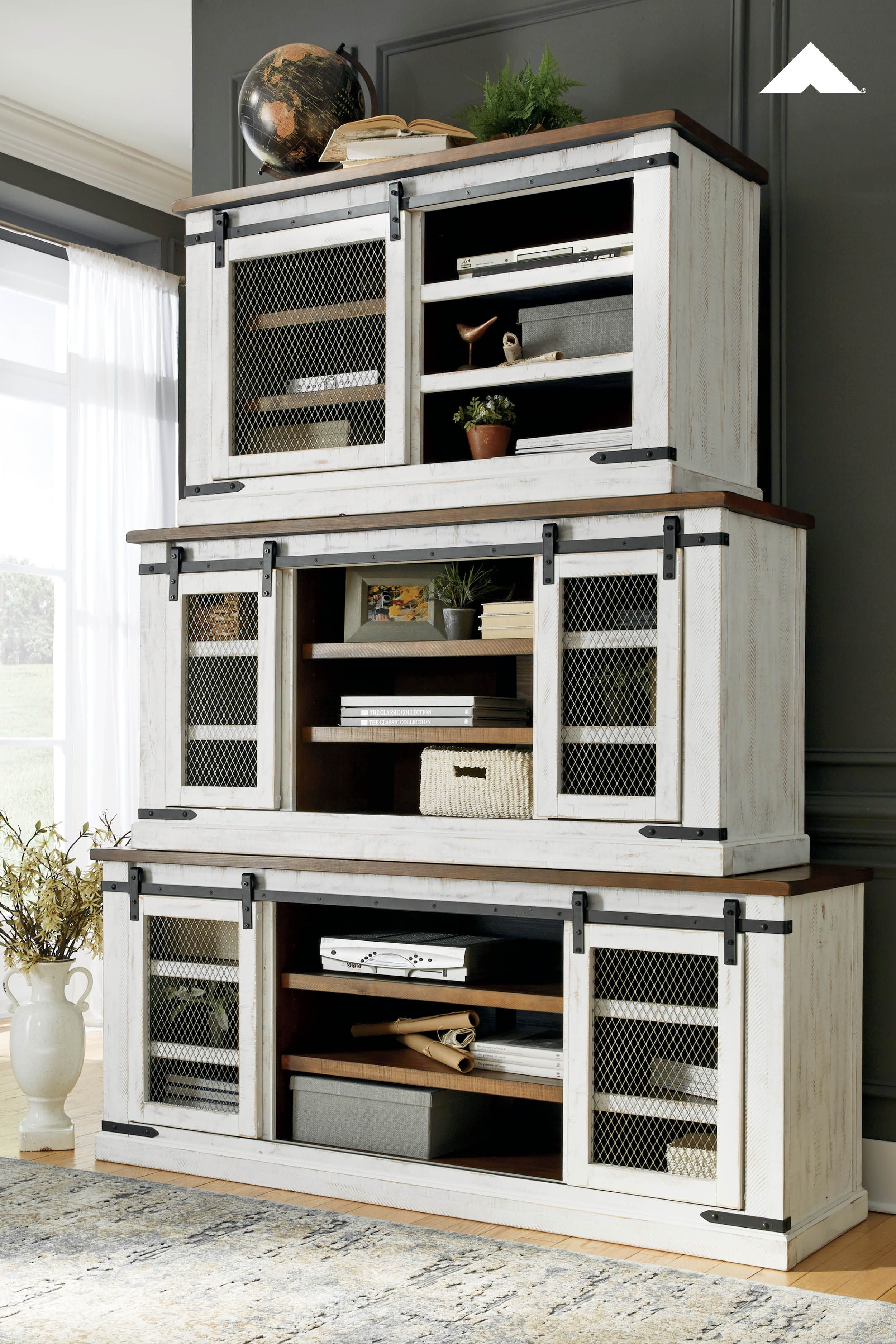 Wystfield White Brown Tv Stands By Ashley Furniture Double Take