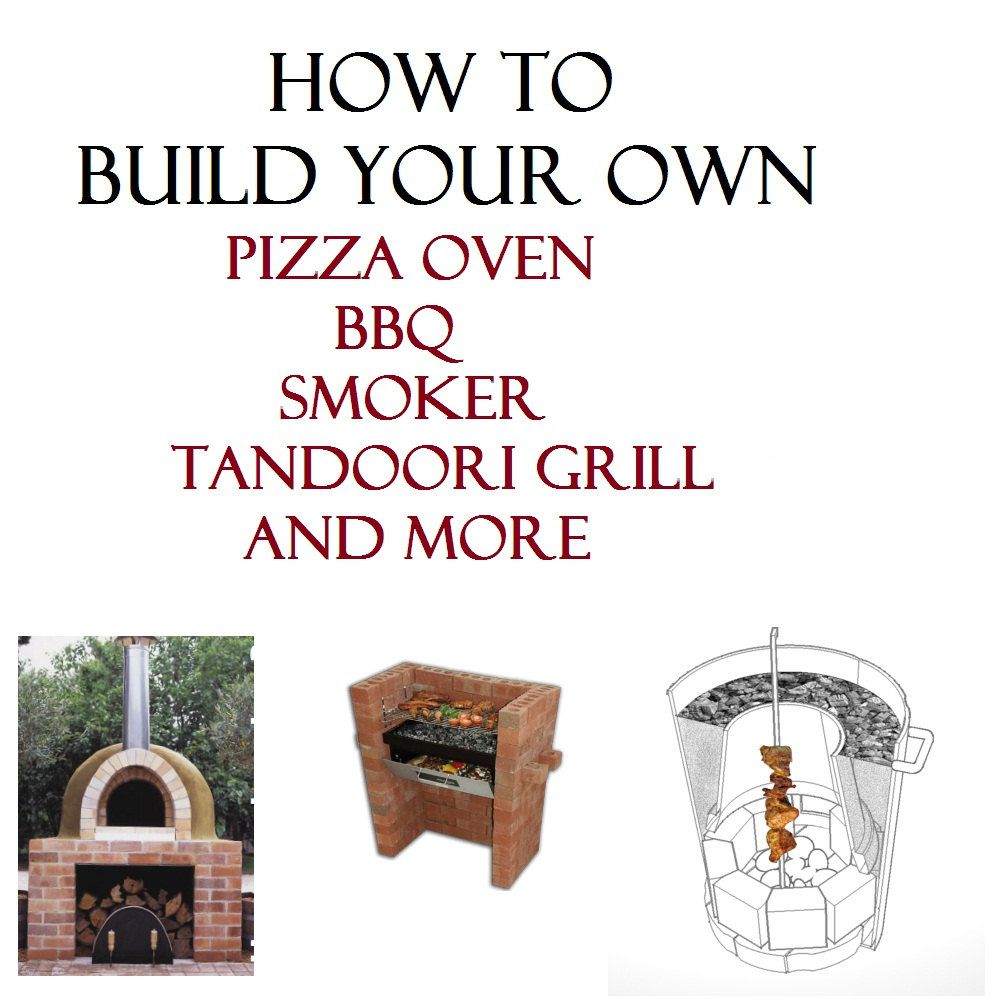 WOOD FIRED PIZZA oven bread bbq outdoor smoker stone brick burning ...