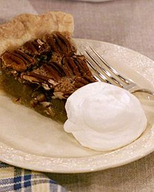 "Pecan pie is a relatively recent addition to the American table. No one knows exactly when it was invented, but since the 1940s -- when it was first popularized in ""Joy of Cooking"" and ""The Fannie Farmer Cookbook"" -- myriad pecan-pie recipes have emerged, including this sweet, rich version, brought to us by Martha's mother, Mrs. Kostyra [click for recipe]"